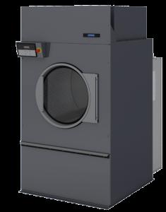 Индустриальная высокоэффективная сушильная машина DX55. Оснащена Full OPL микропроцессором. Обеспечивает газовый, паровой и электрической нагрев и радиальный поток воздуха. Оборудована самоочищающимся пылевым фильтром.